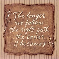 "Right Path by Karen Tribett - 12"" x 12"" - $9.99"