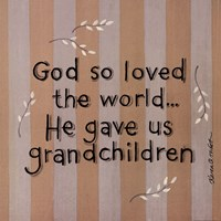 """God So Loved by Karen Tribett - 12"""" x 12"""" - $9.99"""