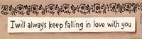 "Always Keep Falling by Karen Tribett - 18"" x 5"", FulcrumGallery.com brand"