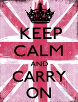 Keep Calm And Carry On 2 Fine Art Print