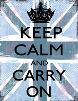 """Keep Calm And Carry On 4 by Louise Carey - 11"""" x 14"""""""
