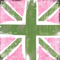 Union Jack Pink And Green Fine Art Print