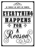 Everything Happens Framed Print