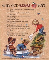 Why God Loves Little Boys Fine Art Print
