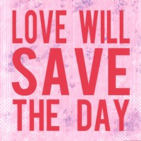 """Love Will Save the Day by Louise Carey - 12"""" x 12"""", FulcrumGallery.com brand"""