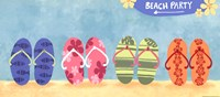 "Beach Flops by Sapna Shah - 18"" x 8"""