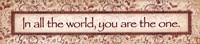 "You Are The One by Stephanie Marrott - 18"" x 4"", FulcrumGallery.com brand"