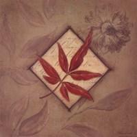 "Red Leaf by Stephanie Marrott - 12"" x 12"""