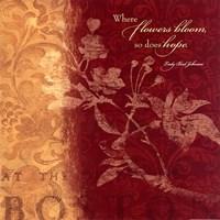 """Where Flowers by Stephanie Marrott - 12"""" x 12"""""""
