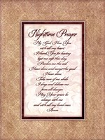 Nighttime Prayer Framed Print