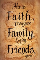 Faith, Family, Friends Framed Print