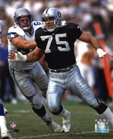 Howie Long 1992 Action Framed Print