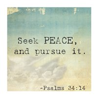 Seek Peace - various sizes