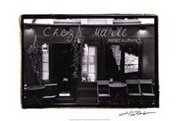 Cafe Charm, Paris V Framed Print