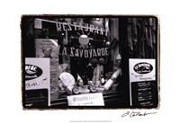 """Cafe Charm, Paris VI by Laura Denardo - 19"""" x 13"""", FulcrumGallery.com brand"""