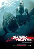 Shark Night 3D Wall Poster