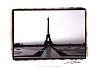 """Eiffel Tower at Dawn by Laura Denardo - 19"""" x 13"""", FulcrumGallery.com brand"""