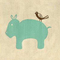 Best Friends- Hippo Fine Art Print