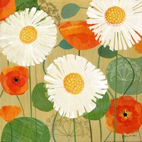 """Daisies and Poppies II by Susy Pilgrim Waters - 18"""" x 18"""""""
