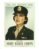 You are Needed Now. Join the Army Nurse Corps Fine Art Print