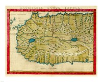 1561 Map of West Africa by Girolamo Ruscelli Fine Art Print