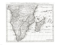 1730 Covens and Mortier Map of Southern Africa, 1730 - various sizes, FulcrumGallery.com brand