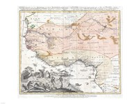 1743 Homann Heirs Map of West Africa, 1743 - various sizes, FulcrumGallery.com brand