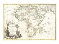 1762 Janvier Map of Africa Fine Art Print