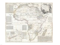 1794 Boulton and Anville Wall Map of Africa Fine Art Print