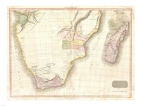 1818 Pinkerton Map of Southern Africa Fine Art Print