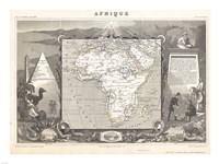 1847 Levasseur Map of Africa Fine Art Print