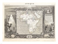1847 Levasseur Map of Africa Fine Art Print