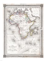 1852 Bocage Map of Africa Fine Art Print