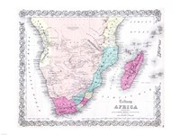 1855 Colton Map of Southern Africa Fine Art Print