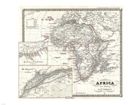 1855 Spruner Map of Africa Since the Beginning of the 15th Century Fine Art Print