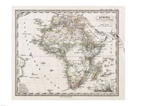1862 Stieler Map of Africa, 1862 - various sizes