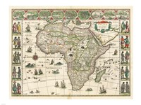 Africa 1635, Willem Janszoon Blaeu Fine Art Print