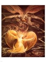 William Blake the dragon Fine Art Print