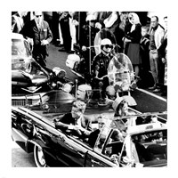 JFK Motorcade Dallas, TX Fine Art Print