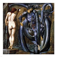 Perseus Slays the Serpent Fine Art Print