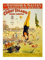 Barnum & Bailey Coney Island Water Carnival Framed Print