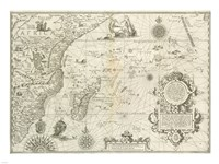 East Africa and the Indian Ocean 1596, Arnold Florent van Langren Fine Art Print