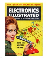Electronics Illustrated March, 1961, 1961 - various sizes, FulcrumGallery.com brand