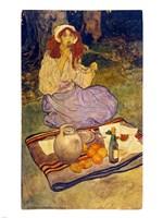 Elizabeth Shippen Green, Miguela, kneeling still, put it to her lip, 1906, 1906 - various sizes