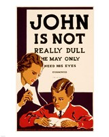 John is Not  Really Dull, WPA Poster, ca. 1937 Framed Print