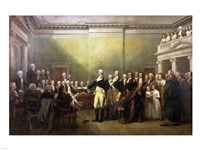 General George Washington Resigning His Commission Fine Art Print