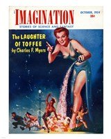 Imagination Cover October 1954 - various sizes, FulcrumGallery.com brand