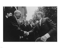 JFK Khrushchev Handshake 1961 Fine Art Print