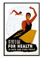 Swim for Health Fine Art Print