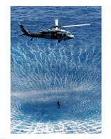 US Navy Search and Rescue Diver Framed Print